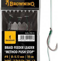 Browning #4 Przypon Method Push Stop – Plecionka brazowy 7,3kg,16lbs 0,14mm 10cm 3szt (4720014)