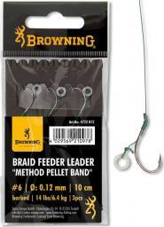 Browning #6 Braid Feeder Leader Method Pellet Band brazowy 6,4kg,14lbs 0,12mm 10cm 3szt (4722012)
