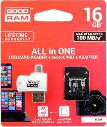 Karta MicroSD GoodRam All in one 16GB (M1A4-0160R12)