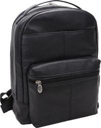Plecak MCKLEIN Skórzany męski plecak na laptopa MCKLEIN Parker 88555 czarny