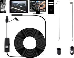 Acurel Endoskop wodoodporny kamera inspekcyjna 5m 8mm USB uniwersalny