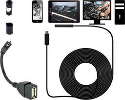 Endoskop wodoodporny kamera inspekcyjna 5m 5,5mm USB uniwersalny