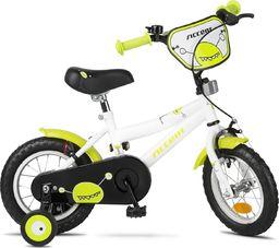 """Accent Rower dziecięcy Accent Monster 12"""" biało-zielony uniwersalny"""