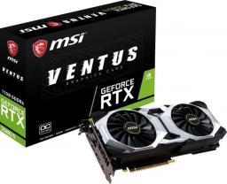 Karta graficzna MSI GeForce RTX 2080 Ti VENTUS 11G OC, 11GB GDDR6 (GeForce RTX 2080 Ti VENTUS 11G OC)