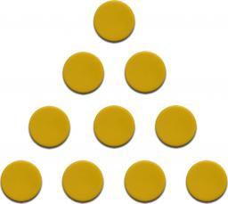 Magnesy 10 sztuk 20 mm żółte