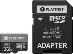 Karta Platinet MicroSDHC 32 GB Class 10 UHS-III/U3 V30 (PMMSD32UIII / 44003)