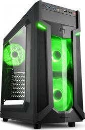 Obudowa Sharkoon VG6-W black/green (4044951026791)