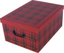 Miss Space Pudełko kartonowe MINI SZKOCKA KRATA-BORDO uniwersalny