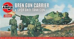 Airfix Bren Gun Carrier & 6PDR Anti Tank Gun model do sklejania Airfix uniwersalny