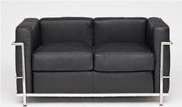 D2 Design Sofa dwuosobowa Kubik inspirowana LC2 uniwersalny
