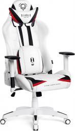 Fotel Diablo Chairs X-RAY model L BIAŁO-CZARNY (5902560336061)