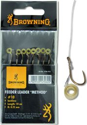Browning #14 Feeder Method Przypon z opaska do pelletu brazowy 6lbs,2,8kg Ø0,18mm 10cm 8szt (4706014)