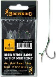 Browning #6 Braid Feeder Leader Method Boilie Needle brazowy 6,4kg,14lbs 0,12mm 10cm 3szt (4721012)