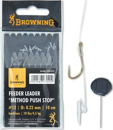 Browning #14 Przypon Feeder Method Push Stop brazowy 10lbs,4,5kg Ø0,22mm 10cm 8szt (4704014)
