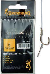 Browning #10 Przypon Feeder Method z igla do kulki brazowy 10lbs,4,5kg Ø0,22mm 10cm 8szt (4706110)