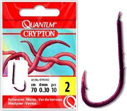 Quantum #10 Przypon Crypton Czerwony robak czerwony 0,20mm 70cm 10szt (4749010)