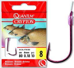 Quantum #8 Crypton Leszcz Przypon czerwony 0,18mm 80cm 10szt (4740008)