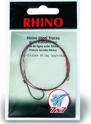 Rhino #1/0 Przypony Stalowe Rhino 7x7 12kg Ø0,42mm 1szt 0,6m (4205012)