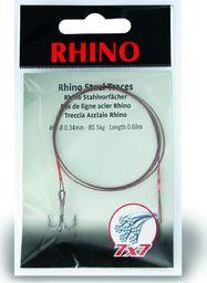Rhino #1 Przypony Stalowe Rhino 7x7 15kg Ø0,45mm 1szt 0,6m (4204015)