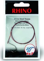 Rhino #2/0 Przypony Stalowe Rhino 1x7 15kg Ø0,36mm 1szt 0,6m (4203015)