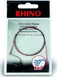Rhino #1/0 Przypony Stalowe Rhino 1x7 12kg Ø0,33mm 1szt 0,6m (4203012)
