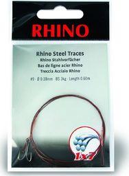 Rhino #9 Przypony Stalowe Rhino 1x7 3kg Ø0,18mm 1szt 0,6m (4202003)