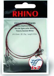Rhino Ø0,36mm Przypony Stalowe Rhino 1x7 0,5m 15kg 2szt (2317015)