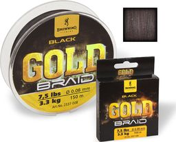Browning Ø0,12mm Plecionka Black Magic® Gold 150m 4,5kg,10lbs czarny (2337012)