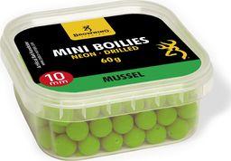 Browning Mini Boilie Neon, nawiercone zielone Mussel Ø10mm 60g (3905004)