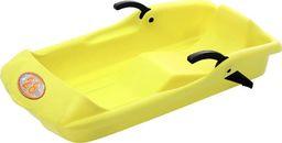 EDA Sanki plastikowe z hamulcami Bob 28 żółte