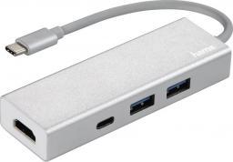 HUB USB Hama HUB 1:3 USB 3.1 TYP-C ALU + HDMI