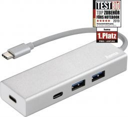 """HUB USB Hama HUB 1:4 USB 3.1 Typ-C  """"Aluminium"""""""