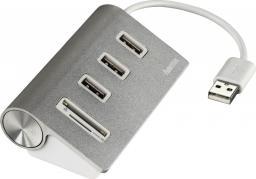 """HUB USB Hama HUB USB-2.0/CZYTNIK KART """"ALUMINIUM"""""""