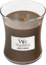 WoodWick świeca w szkle średnia Amber&Incense 114mm x 98mm (92041E)