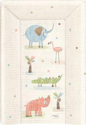 Ceba Ceba Baby, Przewijak miękki profilowany z zagłówkiem krótki (50x70) Gang Słonia ecru