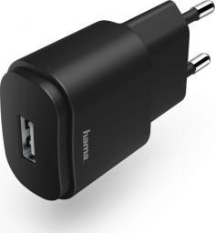 Ładowarka Hama USB 230V 1,2A (CZARNA)