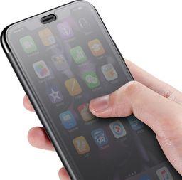 Baseus Baseus Touchable Case żelowe etui futerał z panelem ze szkła hartowanego iPhone XR czarny (WIAPIPH61-TS01) uniwersalny