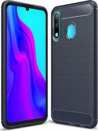 Hurtel Carbon Case elastyczne etui pokrowiec Huawei P30 Lite niebieski uniwersalny