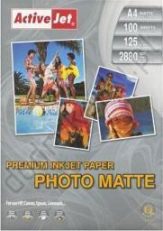Activejet Papier Foto 125g Matowy A4 (AP4-125M100)