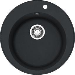 Franke Zlewozmywak 1-komorowy ROG 610 bez ociekacza okrągły 51cm onyx (114.0286.753)