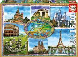 Educa Puzzle 1500 elementów Siedem cudów Europy