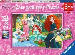 Ravensburger Puzzle 2x12 elementów - W świecie Księżniczek