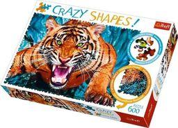 Trefl Puzzle 600 elementów Crazy Shapes - Oko w oko z tygrysem