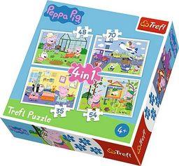 Trefl Puzzle 4w1 Świnka Peppa Wspomnienia z wakacji