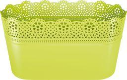 Prosperplast Doniczka Lace z koronką długa Limonkowy (DLAC285-389U)