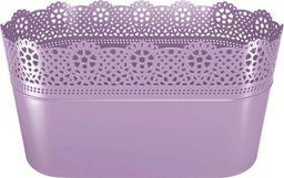 Prosperplast Doniczka Lace z koronką długa lawendy (DLAC285-2635U)