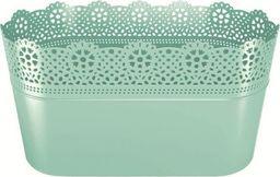 Prosperplast Doniczka Lace z koronką długa pistacjowy (DLAC285-573U)