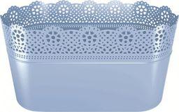 Prosperplast Doniczka Lace z koronką długa Jasnoniebieski (DLAC285-658U)