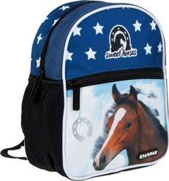 Starpak Plecak szkolny Horses niebieski