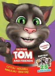 TALKING TOM AND FRIENDS CZYTAJ KOLORUJ NAKLEJAJ BAW SIĘ